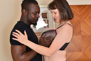 Naughty British mature lady cant win enough be worthwhile for her boyfriends thick seized dick