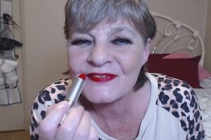 Shades of crimson or old mature sex clip with captivating grandma, lovin' thick sensitized
