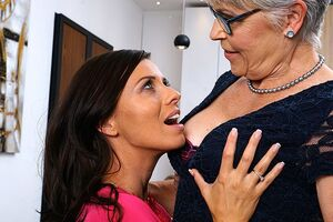 Horny lesbo mother's go all the way