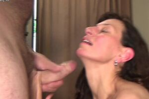 Wild mom toying and huge-chested dick
