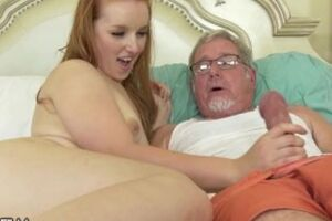 DevilsFilm Youthful Redhead Wants Her Step-Grandpa's Fat Shaft Inwards Her